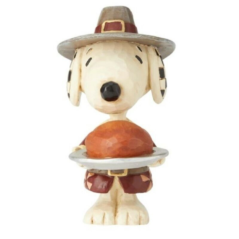 Jim Shore Peanuts Mini Snoopy Pilgrim Figurine 6002779 New Thanksgiving