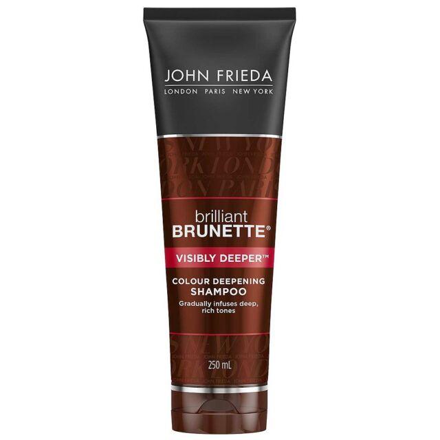 2 x John Frieda Brilliant Brunette Visibly Deeper Shampoo 250ml