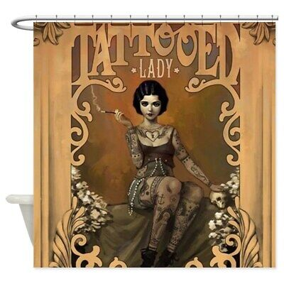 CafePress The Amazing Tattooed Lady Shower Curtain