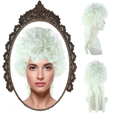 Mrs Claus Wig (Mrs. Santa Claus Curly Wave Wig Colonial Costume Accessory Christmas)