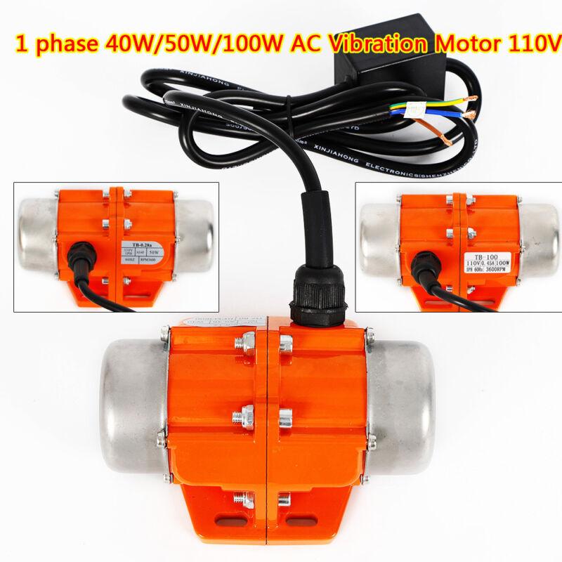 AC Vibration Motor 40/50/100W Vibrating Asynchronous Vibrator 110V 3600RPM HOT