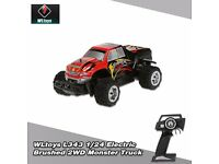 WLtoys L343 1/24 2.4G Electric Brushed 2WD RTR RC Monster Truck