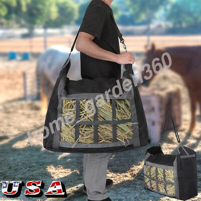 600D Oxford Cloth Horse Hay Bale Tote Bag Feed Storage Pouch Horse Riding Gear