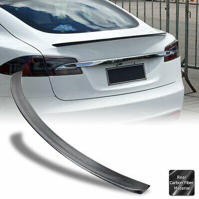 Real Carbon Fiber Trunk Spoiler Rear Wing for 2012-20 Tesla Model S