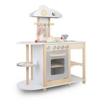 Wooden Kitchen Playset[PLAY-WOOD-COLOCK-WH]