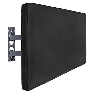 "Outdoor TV Cover Weatherproof Universal Protector 2 Storage Pockets 52""X 33""X 5"""