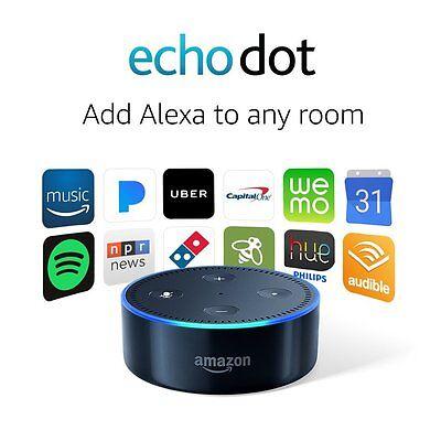 Amazon Echo Dot 2Nd Generation With Alexa Black New  Cheap     No Tax