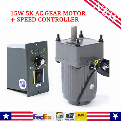 New 110v15w 5k Ac Gear Motor Electric Motor Variable Speed Controller 2700rpm