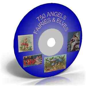 750 VINTAGE ANGELS, FAIRIES, ELVES IMAGES ON CD