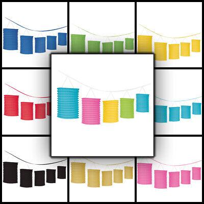 Laternen Girlande 365 cm Raum Dekoration für Partys und mehr, große Farbauswahl