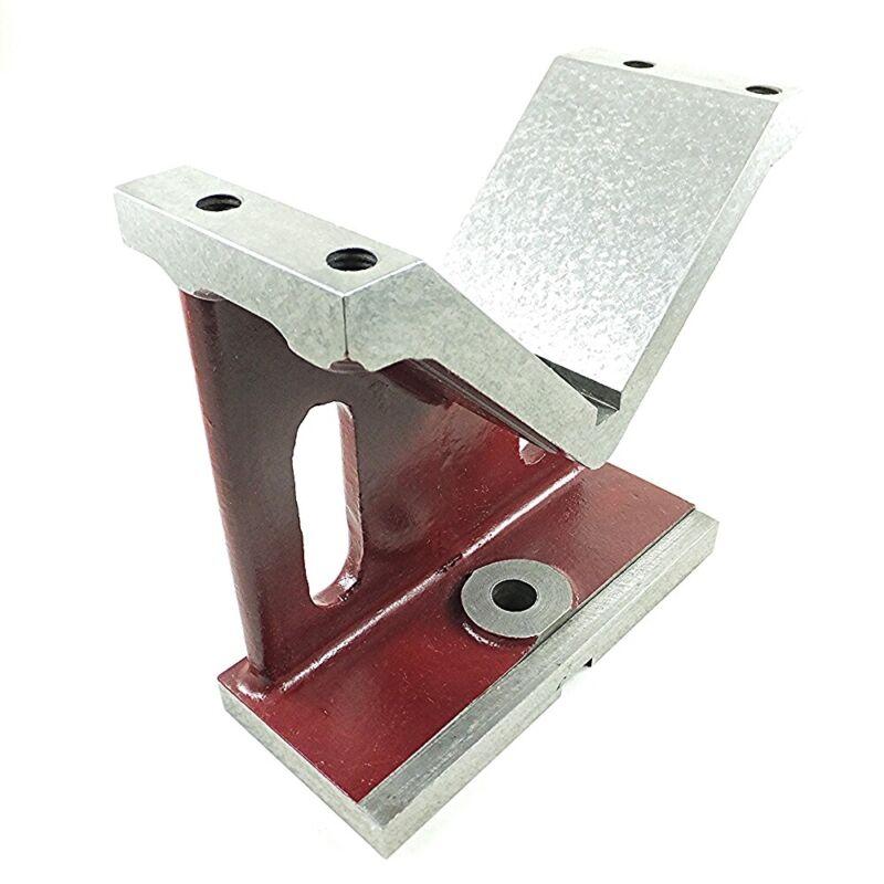 "Unique Cast Iron Machinist V-Block Fresh Scraped 90° Reference 8x8x3-1/2"" Keyway"