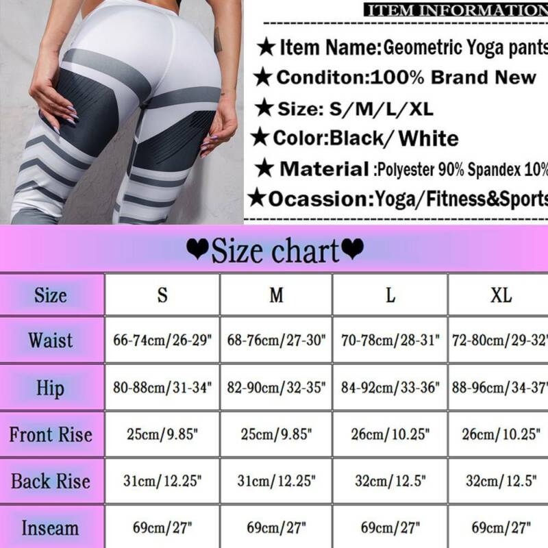 Women/'s 3D Print Yoga Running Gym Fitness Leggings Fitted Sports Pants Trousers