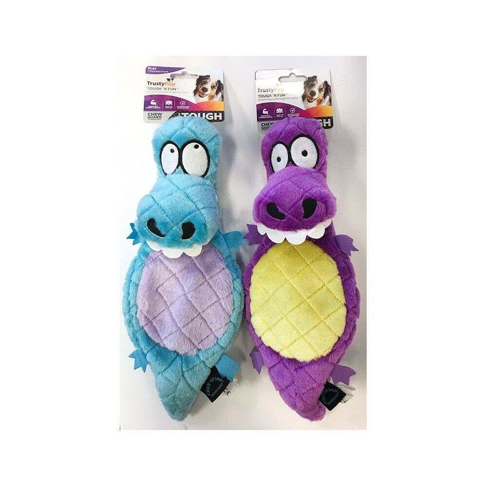 Trustypup Dog Toys Value Pack: Lizards Plush Toy 2 Pack, Blue/purple, Dog Supplies