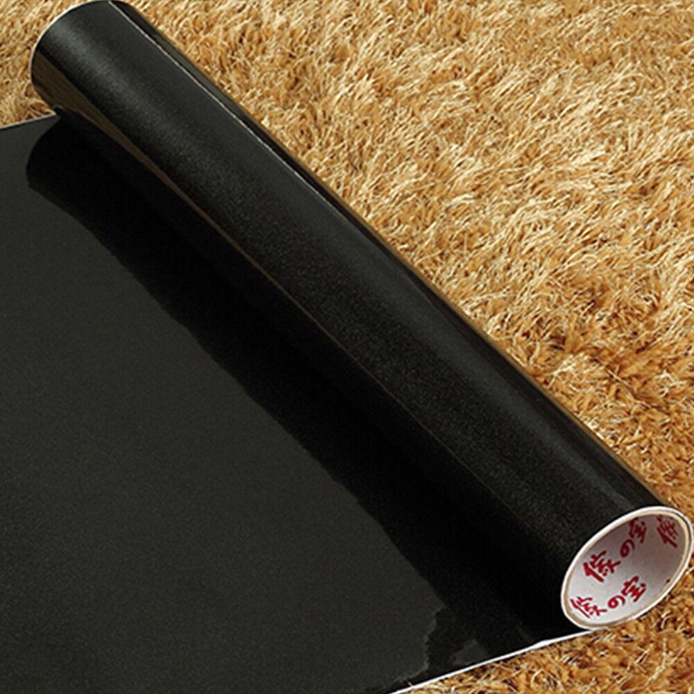 Yazi Black Contact Paper Vinyl Self Adhesive Cupboard Door