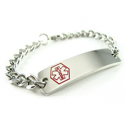 MyIDDr - Pre Engraved - ASTHMA Medical Alert ID Bracelet, Curb Chain (Asthma Medical Alert Bracelet)