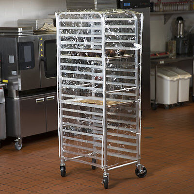 63 Clear 14 Mil Plastic Restaurant Bakery Bun Pan Speed Rack Cover