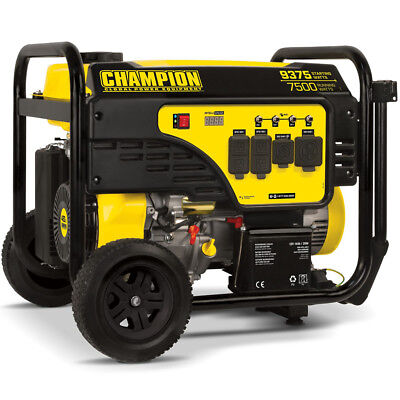 Champion 100538 - 7500 Watt Electric Start Portable Generator