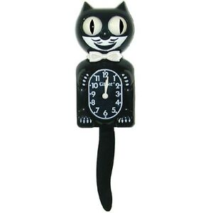 Kitty cat kit kat klock clock tail pendulum black with 4 - Kitty cat clock ...