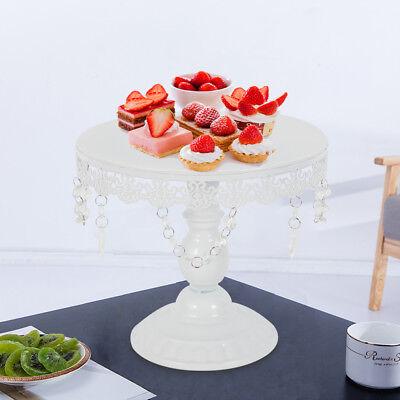 10 Inch Iron Round Cake Stand Pedestal White Dessert Holder Wedding Party Decor