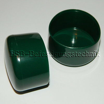 Pfostenkappen Rohrkappen .. grün ..rund Ø32 - 60 mm  Zaunpfahlkappen Kappen PVC