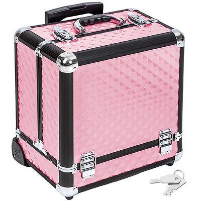 Kosmetikkoffer Beauty Case Schminkkoffer Trolley Schmuckkoffer pink