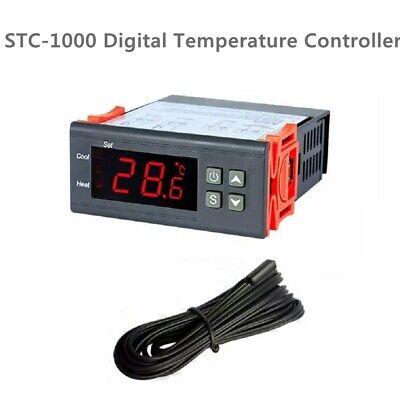 Digital Temperature Controller Fahrenheit Centigrade Thermostat Sensor Stc-1000