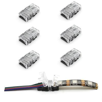 WIRE TO STRIP CONNECTOR CLIP LED 8mm 10mm RGB-W 2Pin 3Pin 4Pin 5Pin PCB ADAPTER - 8 Pin Wire