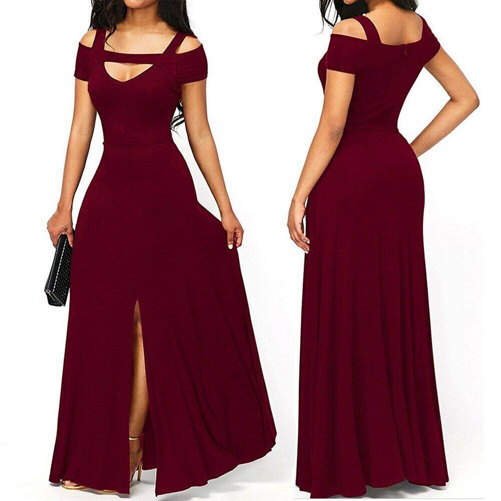 lange mode kleider für frauen elegante formale prom quitten