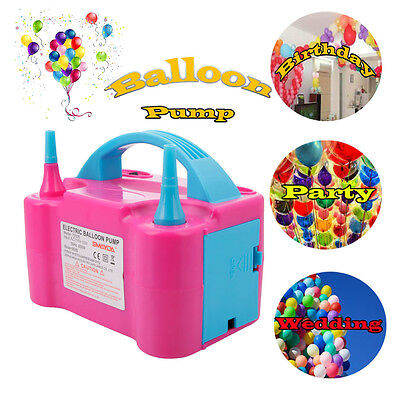 Portable Double High Speed Electric Balloon Air Pump Inflator 110V Blower Party (Inflate Balloons)