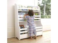NEW Jo Jo Maman Bebe White Bookshelf (front facing)