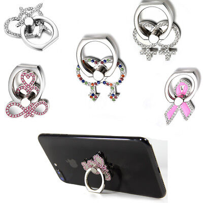 Phone Ring Swarovski Crystal Stand and Grip for Smartphones and Tablets