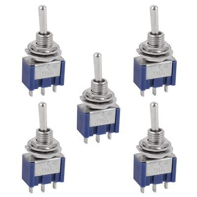 5 Pcs AC ON/OFF/ON SPDT 3 Position  Micro Mini Toggle Switch 6 Amp, AC125V Ac 3 Position Toggle