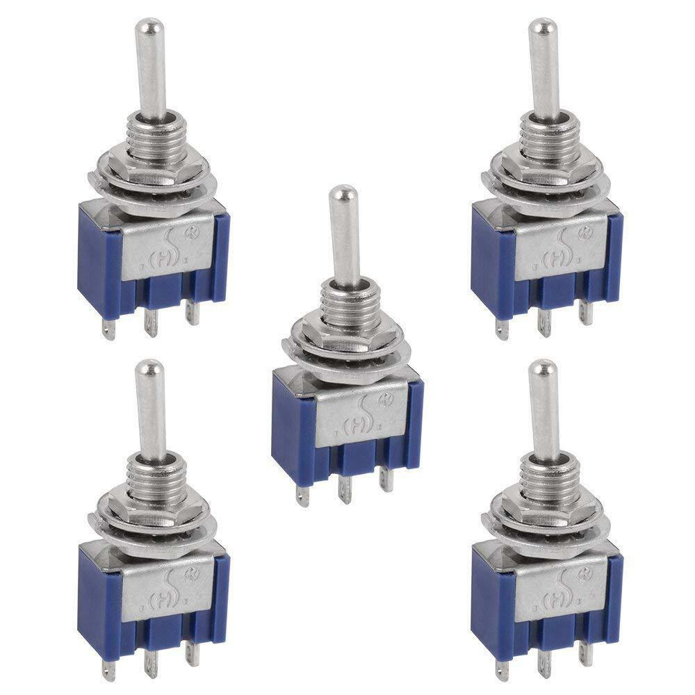 5 Pcs AC ON/OFF/ON SPDT 3 Position  Micro Mini Toggle Switch 6 Amp, AC125V Business & Industrial