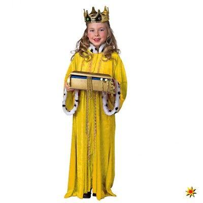 Kinder Königsmantel gelb Gr. 140/152 Weihnachten Krippenspiel Fasching - Gelbe König Kostüm