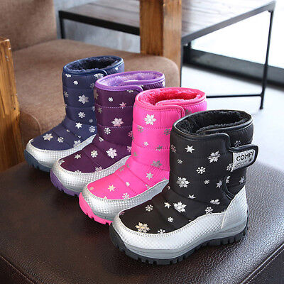 Fashion Kids Children Snow Boots Shoes Winter Boots Shoes Students Sneakers Boot ()