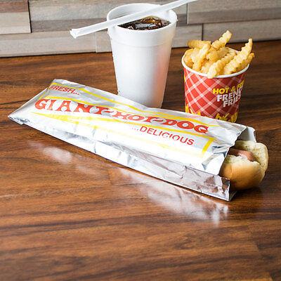 Hot Dog Hotdog Foil Bags For Concession Use 1000 Case  3 X 2 X 12