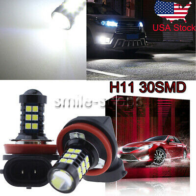 H11 H8 H9 3030 30SMD LED Fog Light Conversion Kit Premium 6000K Xenon White