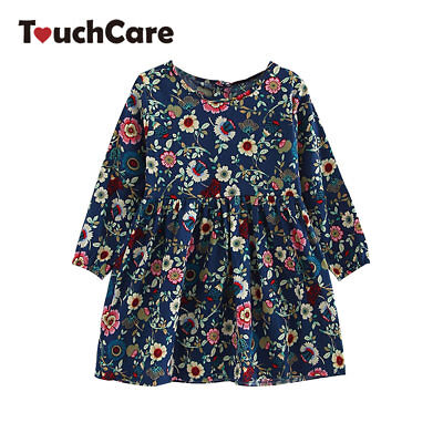 Girls Flower Dress Kids Long Sleeve Cotton Clothes Princess Dresses Children - Cotton Flower Girl Dresses