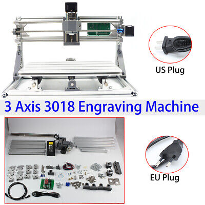 Mini 3 Axis 3018 Grbl Control Cnc Router Milling Wood Engraving Printer Machine