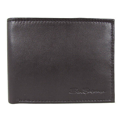Ben Sherman Mens Kensington Collection 16005C Leather Passcase Wallet, (Mens Collection)