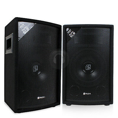 "2x Skytec 8"" Inch Passive PA Speakers Disco DJ Sound Package 800W UK Stock"