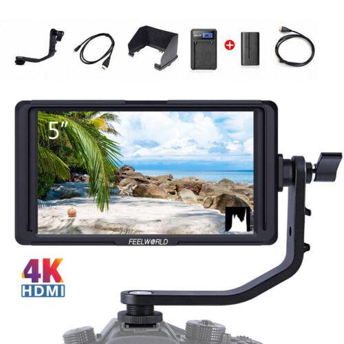 """FEELWORLD F5 5"""" DSLR On Camera Field Monitor Small Full HD 1920x1080 IPS 4K HDMI"""