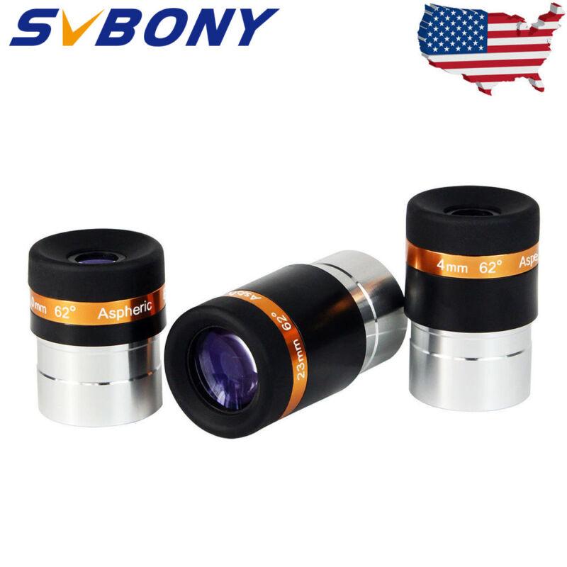 "SVBONY1.25"" 62°Eyepieces Kits 4/10/23mm Fully-Coated for Astronomic Telescope US"