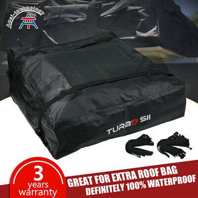Waterproof Roof Top Cargo Bag NO RACK NEEDED + Non Slip Roof Mat & Storage (Rack Cargo Bag)
