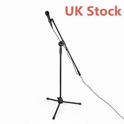 High Quality Professional Boom Microphone Mic Stand Holder Adjustable Clips UK