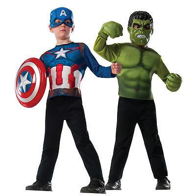 Marvel Age Of Ultron Captain America & Hulk Halloween Costume 2 Pc Set Sizes 4-6