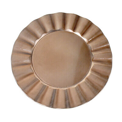 Plastic Round Charger Plate Fan Edge, Rose Gold, - Rose Gold Charger Plate