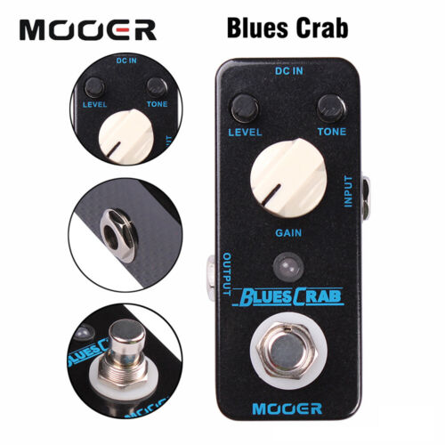 Mooer Blues Crab Overdrive Guitar Effect Pedal Classic Blues Overdrive Sound