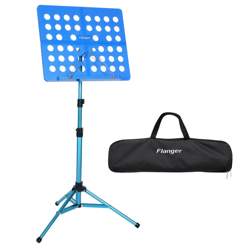 Blue Portable Music Conductor Stand Adjustable Sheet Tripod Holder w/ Bag