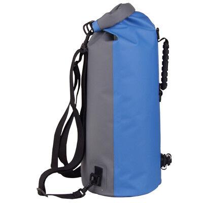 60L Waterproof Floating Dry Bag Backpack Drift Canoe Kayak Fishing Boating Blue